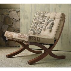 Chair Lounge - Eclectic/Industrial - lounge chair with a recycled fabric for the tufted upholstery.  Nice touch!