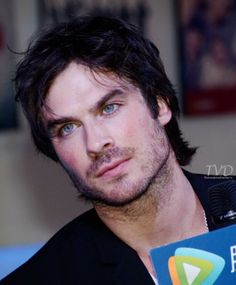 ian somerhalder - that is his serious listening face... the wheels are turning