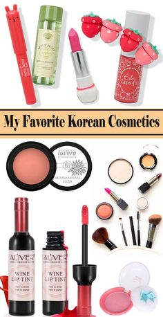 My Favorite Beauty Products – Korean Cosmetics Packaging - Makeup Products Best Farmasi Cosmetics, Faces Cosmetics, Natural Cosmetics, Best Korean Moisturizer, Moisturizer For Oily Skin, Wine Lip Tint, Bb Cream For Oily Skin, Best Face Products, Beauty Products