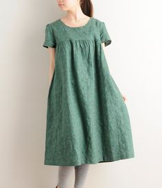 This dress shape. High seam, and loose