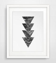 Marble Geometric Art Marble Print Marble by MelindaWoodDesigns #Marbleprints #Geometricdecor #printableart