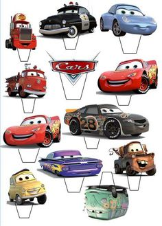 12 X 3 Disney Cars Lightening Mcqueen Edible Cupcake Topper Stand Up Pre