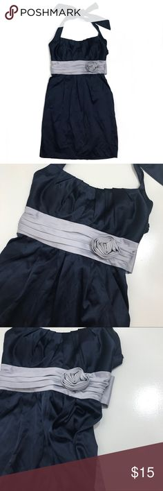 Halter Formal Mini Dress • Navy halter formal dress with two front pockets. This is in great condition. City Studio Dresses Mini
