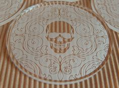 Acrylic engraved Laser cut coasters set by InvenioCrafts on Etsy, €16.00
