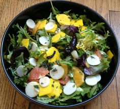 Raw beet, turnip, & citrus salad in an oregano honey mustard vinaigrette.