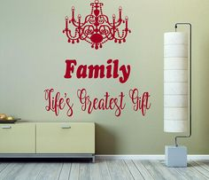 Family Life's Greatest Gift Wall Decal, Inspirational Wall Decal, Family Quote Decor, Kitchen Room Decor, Housewarming Gift, Room Art  nm160