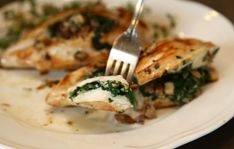 Mushroom & Spinach Stuffed Chicken