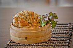 Receita de Sanduíche de croissant com frango e demora apenas 30 minutos.