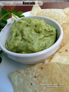 Creamy Cilantro Jalapeno Avocado Dip ~ Sumptuous Spoonfuls #easy #spicy #avocado #dip
