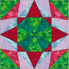 Kaleidoscope 3 Paper Piece Foundation Quilting by QuiltingSupport, $3.50