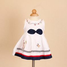 Jayden & Co Blue Ribbon Rabbit Embroidery Baby Dress [Mix 3 For RM 100]