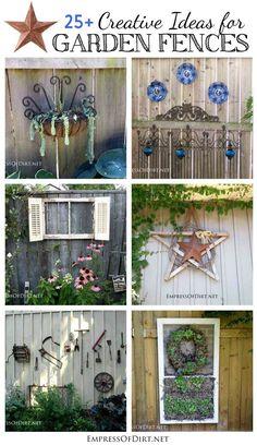 25+ Creative Ideas For Garden Fences - Unique garden fences ideas with an artistic flair. | Empress of Dirt