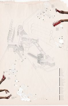 fabriciomora:      Axonometric production collage