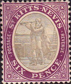 1905 St Kitts - Nevis Christoper Columbus SG 6 Fine Mint SG 6 Scott 6 Other Old Stamps for sale here