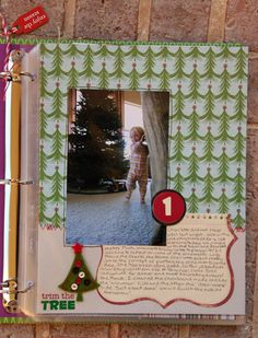 Cute idea for scrapbooking the Christmas season.  Though it would probably be a lot less fun since we don't have kids... but we are big kids at heart!