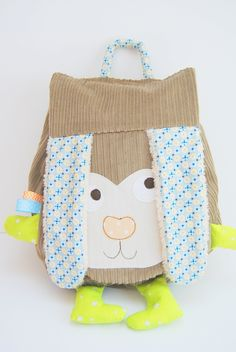 Un sac à dos en forme de lapin beige pour la maternelle : Sacs enfants par 1-2-3-picoti