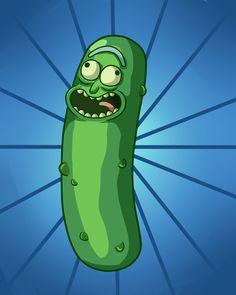 PICKLE RICK!!!! I fucking love Pickle Rick I just had to draw him