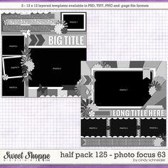 Cindy's Layered Templates - Half Pack 125: Photo Focus 63 by Cindy Schneider