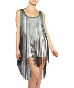 Loving this Gray Fringe Dress on #zulily! #zulilyfinds