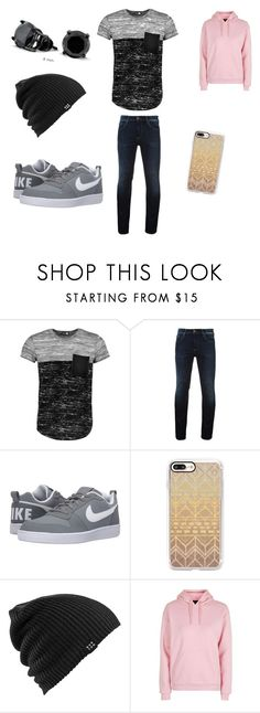 """Untitled #26"" by lexijackson331 on Polyvore featuring Boohoo, Hilfiger Denim, NIKE, Casetify, Burton, Topshop, Bling Jewelry, men's fashion and menswear"
