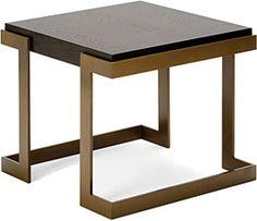 Angulus Side Table Medidas:P:57xL:57xH:50 Loja:Decorus Bronze e Madeira  Material:Carvalho , bronze texturizado