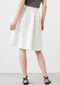 Sukně midi s texturou