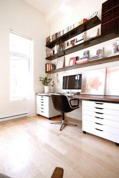 Soortgelijke bureaukastjes moeten ook gemaakt worden: 1 grote voor hangmappen en 1 grote met lades. Bijkomende lades zullen daarnaast nog nodig zijn voor extra opslagruimte.