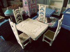 Plastic Canvas furniture for barbie