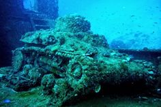The wreck of the liberty ship lies parallel to the shore on the steep slope. Part of the super-structure is within snorkeling distance from the surface. The hulk is broken into large chunks, and there are lots of big holes in the hull, making it easy to explore the vessel's innards.