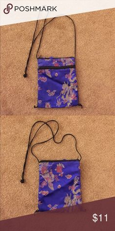 Funky dragon pattern small purse Cute and funky purse. No holes. Light wear (as pictured) Bags Mini Bags