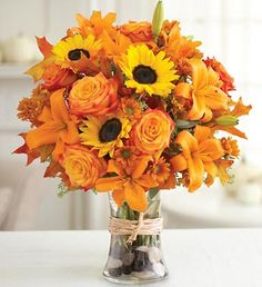Fall wedding flowers. I love the tiger Lillys