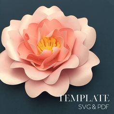 This is an original Paper Flower template designed exclusively by The Bleu Dahlia, you won't find it anywhere else except in the Silhouette Design Store (available on 9/6/17). You will get 2 digital files, physical template is not included: 1 SVG file that can be resized for your