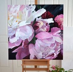 xưởng nghệ thuật L'art's media content and analytics Peony Painting, Watercolor Flowers, Watercolor Paintings, Botanical Art, Beautiful Paintings, Art Pictures, Flower Art, Amazing Art, Japan Info