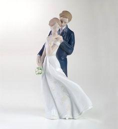 Noivinhos de Porcelana Lladró ® Cod: A101 - NOIVINHOS TOPO DE BOLO DE PORCELANA e PERSONALIZADOS Á