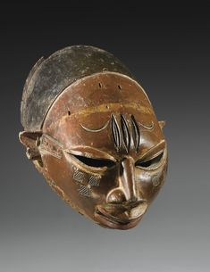 Africa | Mask from the Yoruba/Nago of Bénin | Wood and pigment