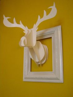 DIY framed deer head.