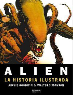 """Heavy Metal editou orixinalmente """"Alien. The Illustrated Story"""" na primavera de 1979, antes ata da estrea da película, en maio do mesmo ano, nunha época na que non había tanto interese nos spoilers ou en rebentar as sorpresas dos filmes máis esperados. O volume publicado agora por Diábolo co material remasterizado desta obra aparece practicamente de forma simultánea á edición orixinal en inglés que edita Titan Books"""