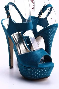 Dark Teal Heels - $7.99! Get them while they last