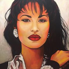 """ART by AYALA on Instagram: """"TBT to my Selena glam portrait✨♥️dm me for prints! #selenaquintanilla #selenaforever #siempreselena #selenaquintanillafans #ripselena…"""" Selena Quintanilla Perez, Selena Pictures, Aaliyah Pictures, Selena And Chris, Jenni Rivera, Dope Art, Beautiful Paintings, Music Artists, Portraits"""