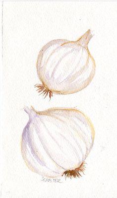 9 Watercolor Garlic Keeper FLOOR
