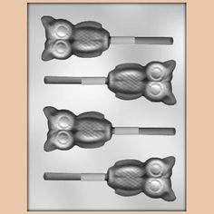 Owl Lollipop Chocolate Mold, $2.25