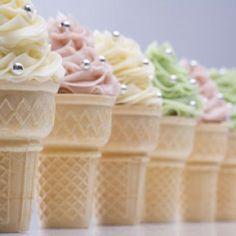 Beautiful Cake Pictures: Elegant Cupcakes in Ice Cream Cone - Cupcake - Baking Cupcakes, Yummy Cupcakes, Cupcake Recipes, Pretty Cupcakes, Fancy Cupcakes, Ice Cream Cupcakes, Ice Cream Party, Beautiful Cake Pictures, Beautiful Cakes