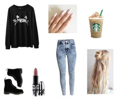 """""""Untitled #36"""" by melodicpoet on Polyvore featuring H&M, Dr. Martens and MAC Cosmetics"""