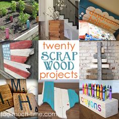 Main Ingredient Monday- Scrap Wood: 20 scrap wood crafts and projects from Yoo Much Time on My Hands