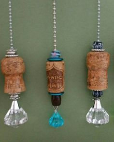 Champagne cork light/ceiling fan pull by MadebyCathySalazar