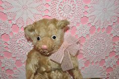 """10"""" English Farnell 1920's teddy bear ~ kissed to bits!"""