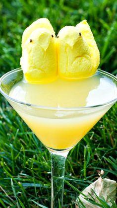 Peeps Paradise Recipe ~ whipped vodka, pineapple juice, orange juice, banana liqueur
