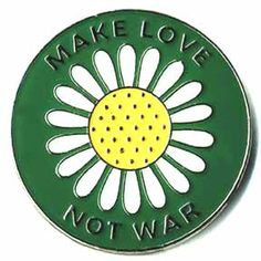 Make Love Not War Lapel Pin