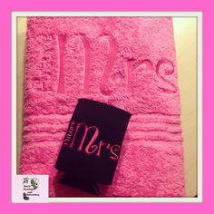 Future Mrs personalized Bath Towel and matching by tinialabini