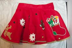 Juniors Ugly Winter Christmas Sweater Skirt Adjustable
